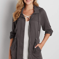 long drapey anorak jacket with hood | maurices