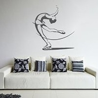 ik1300 Wall Decal Sticker figure skating sports bedroom living room children