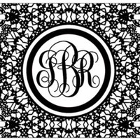 Personalized Monogrammed Floral Lace Flowers License Plate Custom Car Tag L228