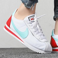 Nike Classic Cortez Popular Women Leisure Leather Sport Shoes Sneakers