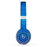 The Unbalanced Blue Textile Surface Skin Set for the Beats by Dre Solo 2 Wireless Headphones