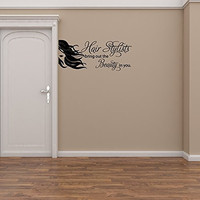 Hair Stylists Bring Out The Beauty In You Vinyl Wall Words Decal Sticker Graphic