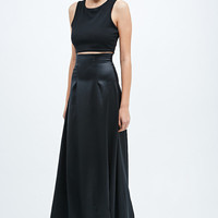 Solace Moore Satin Maxi Skirt in Black - Urban Outfitters