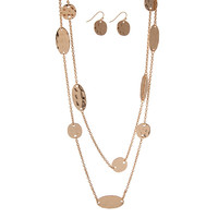 Thalia Hammered Stationaries Necklace Set