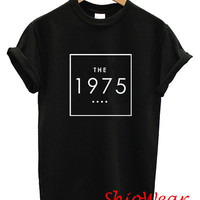 The 1975 Indie Rock Band UK Logo Printed T Shirt Tee Unisex For Men and Women - Black and White Color (T4)