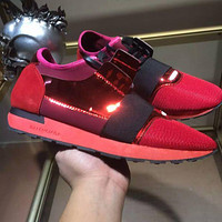 BALENCIAGA red fashion casual shoes G