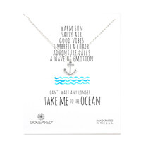 Dogeared Take Me To The Ocean Anchor Necklace