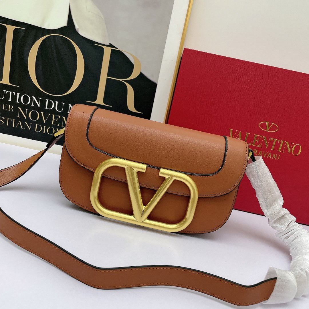 Image of Valentino Women Leather Shoulder Bags Satchel Tote Bag Handbag Shopping Leather Tote Crossbody 0617 27*15*9cm
