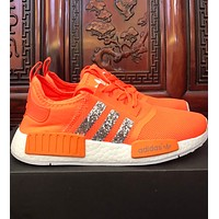 Adidas nmd shining casual sports wild tide shoes F-CSXY orange