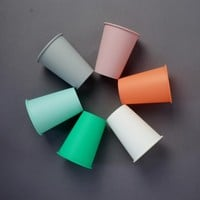 Coloured Cups Set of Six