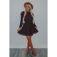 Game Day Dress: Navy/Rust