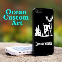 Browning Deer Hunting - Print on Hard Cover iPhone 4/4S Black Case