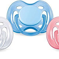 Philips AVENT Freeflow Pacifier BPA, Free Blue / White, 0-6 Months (Pack of 2)