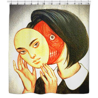 Face Mask Shower Curtain