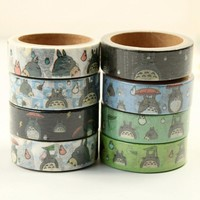 Totoro Decorative Masking Tape - 8 Rolls