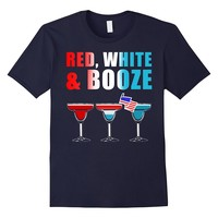 Red White & Booze 4th Of July Drinking Tee