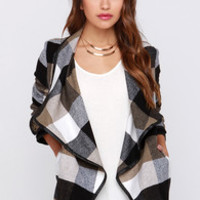 Show and Lapel Brown Flannel Jacket