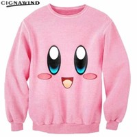 New  Kirby lovable 3D Printed hoodies men/women fashion sweatshirts pullovers long sleeve streetwear hip hop outfitsKawaii Pokemon go  AT_89_9