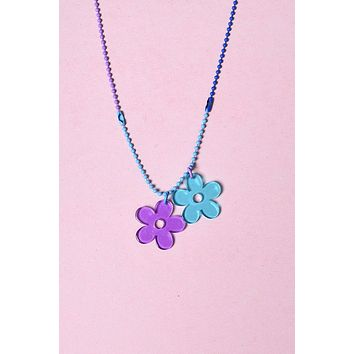 Flower Power ECH Colored Chain Necklace - Boo Berry