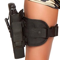 Sexy Police Girl Gun Leg Holster Halloween Accessory