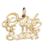 14K GOLD SAYING CHARM - PRIDE OF THE SOUTH #10517