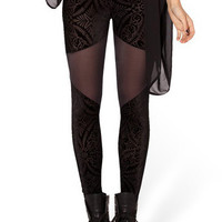 Black Paisley Leggings