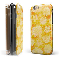 Yellow Floral Succulents iPhone 6/6s or 6/6s Plus 2-Piece Hybrid INK-Fuzed Case