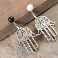 Hamsa Hand Belly Button Ring