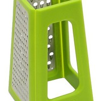 Joseph Joseph Fold Flat Space Saving Kitchen Grater, Green