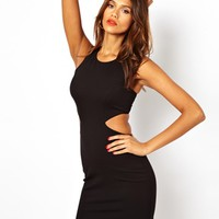 AQ AQ Clara Dress With Cut Out Sides And Back - Black