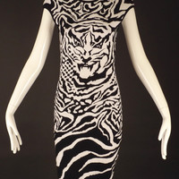 McQ (Alexander McQueen)-2011 Tiger Knit Dress, Size-8