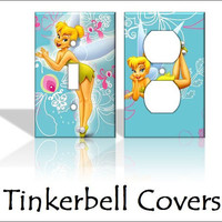 Tinkerbell Disney Light Switch Covers Wallplates Switchplates Home Decor Outlet 14 STYLES AVAILABLE