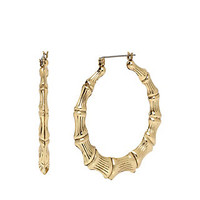 THROWBACK TO VINTAGE BJ BAMBOO HOOPS: Betsey Johnson
