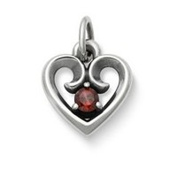 Avery Remembrance Heart Pendant with Garnet | James Avery