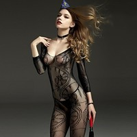 NEST 2018 Women Sexy Bodysuits Black Lace Bodysuit Queen Leotard Bodysuits 150cm-180cm Height To Wear