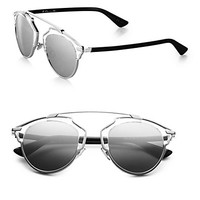 Dior So Real Metal & Plastic Sunglasses - Zoom - Saks Fifth Avenue Mobile