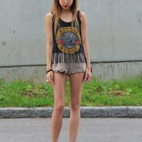 Guns 'n Roses Fringe Tank - Small
