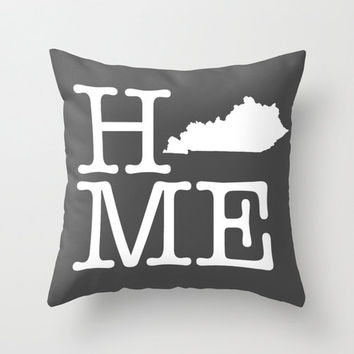 Kentucky state inspired home decor throw pillow, pillow cover, living room decor, home sweet home, decorative pillow cover
