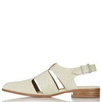 ODESSA Cut-Out Shoes - Natural