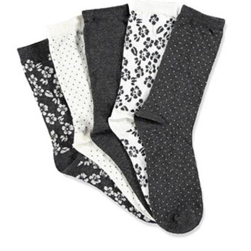 Mixed Floral Crew Socks Pack