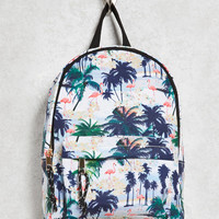 Palm Tree Print Mini Backpack