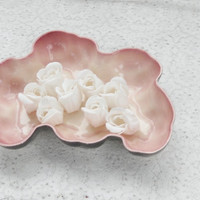 Vintage California Pottery Pink and Gray Freeform Planter/Bowl