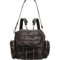 Alexander Wang Marti Zip-Trim Leather Backpack, Black
