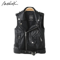 ActhInK  Faux Leather Vest Coat Active Teenager Boys Motorcycle Jacket Kids Spring PU Leather Vest Coat,C294