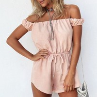 Strappy Strapless Romper Jumpsuit