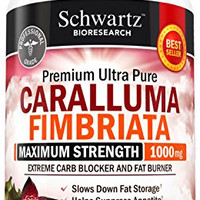 Appetite Suppressant Pure Caralluma Fimbriata Extract 1000mg All Natural Weight Loss Pills to get Slim Fast - Extreme Carb Blocker and Fat Burner to Lose Weight Easily (60 capsules) Made in USA