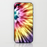 Abstract Purple Tie Dye iPhone & iPod Skin by Phil Perkins