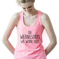 On Wednesday's We Work Out Terry Tank Top