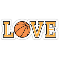 'Love basketball sticker and cup' Sticker by Mhea