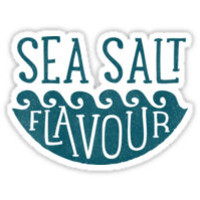 'SEA SALT FLAVOUR' Sticker by cabinsupplyco